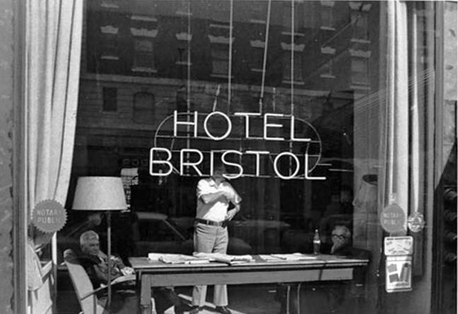 Bristol lobby, 1974.