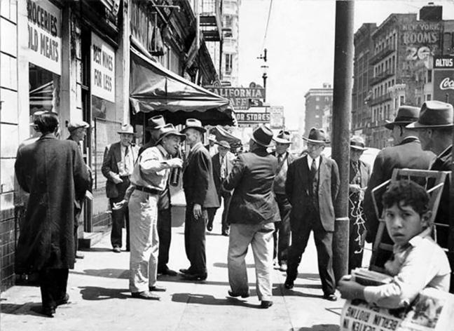 Group-of-men-on-Skid-Road_1956