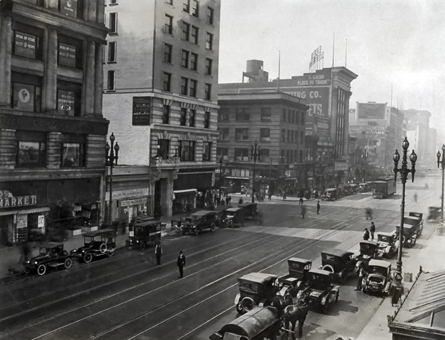 Market & 6th, 1920