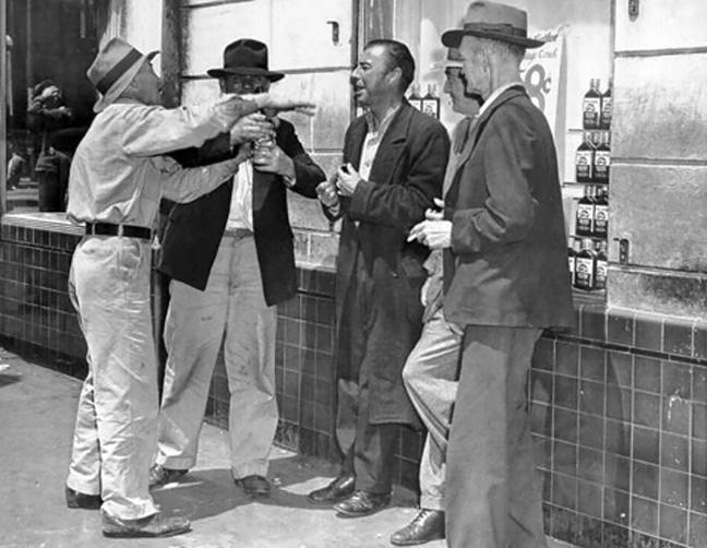 Men-gathered-on-Skid-Road_1954