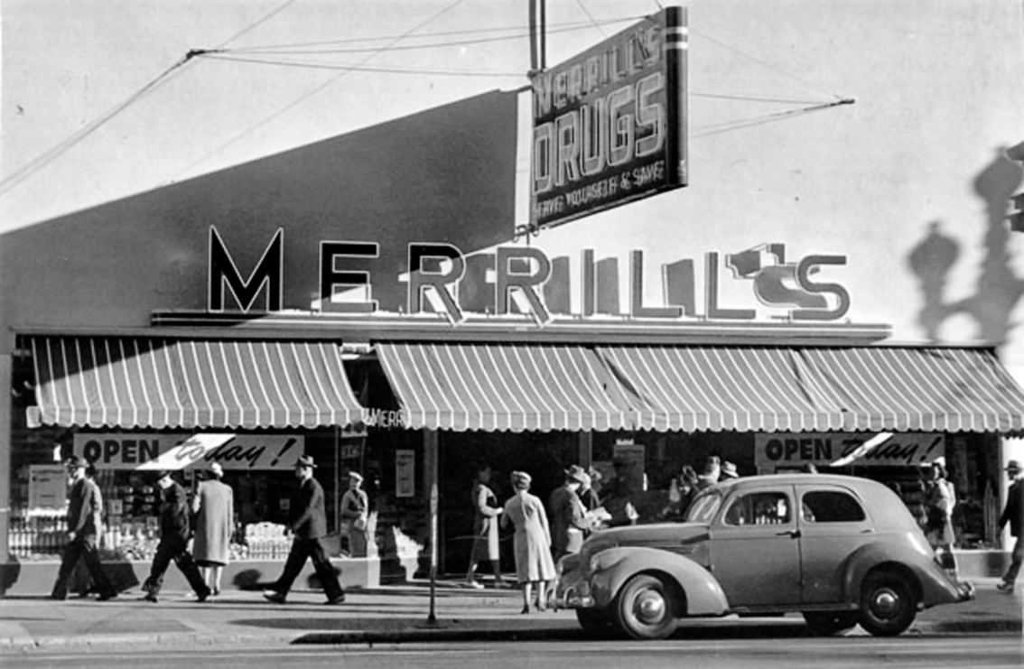 Merrill's Drug Store, ca. 1949