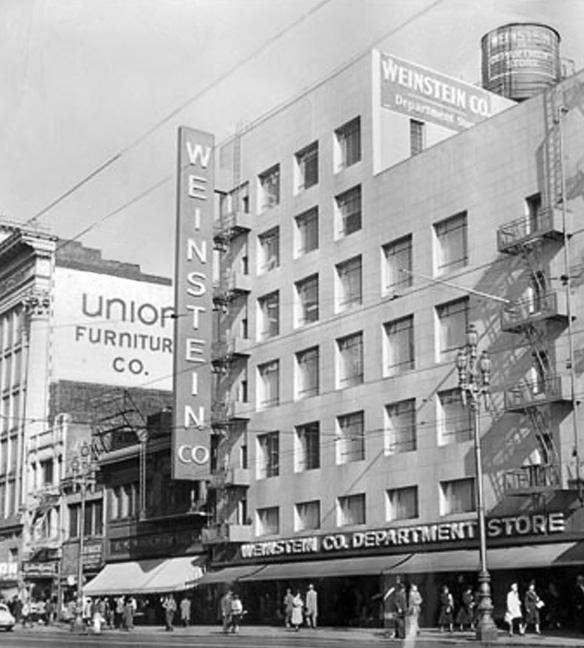 Weinstein Company department store, 1041 Market, 1950